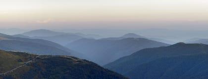 Marmarosy - mountains range. Carpathians National Park, Biosphere Reserve Royalty Free Stock Image