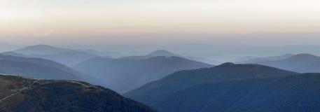 Marmarosy - mountains range. Carpathians National Park, Biosphere Reserve Stock Photo