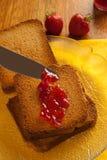 Marmelade e fragole fotografia stock libera da diritti