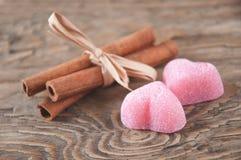 Marmelade en kaneel Royalty-vrije Stock Afbeeldingen