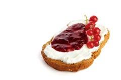 marmelade för brödostmassadriftstopp Arkivfoton