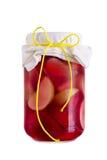 Marmelade Jam in a jar Stock Photos