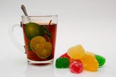 Marmelade und Tee Lizenzfreie Stockfotografie