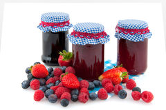 Marmelade van bosfruit Stock Afbeeldingen