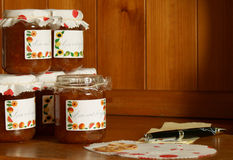 Marmellata d'arance casalinga fotografia stock libera da diritti