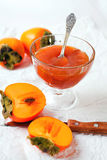 Marmellata d'arance del cachi Fotografie Stock