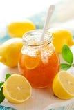 Marmellata d'arance del limone Fotografia Stock