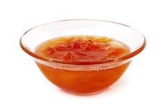 Marmellata d'arance dell'albicocca Fotografie Stock