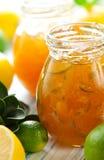 Marmellata d'arance della limetta e del limone Fotografia Stock