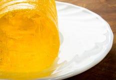 marmellata d'arance gialla di dieta Fotografia Stock Libera da Diritti