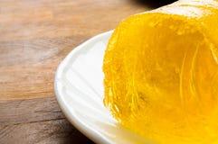 marmellata d'arance gialla di dieta Fotografie Stock