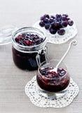 Marmellata d'uva delle pere Fotografia Stock