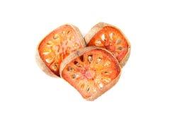 Marmelos de Aegle o fruta de Bael Foto de archivo