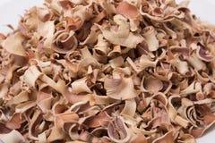 Marmelos secos de Aegle del té de la fruta de Bael aislados en el fondo blanco Imagenes de archivo
