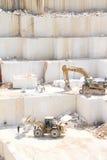 Marmer steengroeve Stock Foto