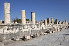 Marmer steet, Ephesus, Izmir, Turkije Royalty-vrije Stock Foto's
