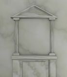 Marmer tempel-vormig frame Royalty-vrije Stock Foto