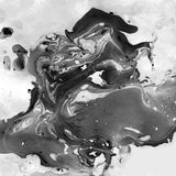 Marmer Zwart-witte Abstracte Achtergrond Vloeibare Marmeren Illistration stock foto