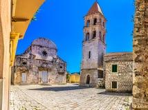 Marmeren architectuur in Hvar, Kroatië Stock Afbeeldingen