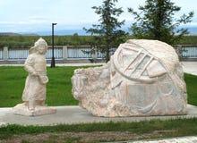 Marmeren beeldhouwwerk Stock Afbeelding