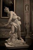 Marmeren beeldhouwwerk David door Gian Lorenzo Bernini Stock Afbeeldingen