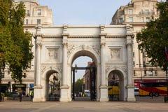 Marmeren Boog in Londen Stock Afbeeldingen