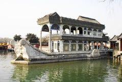 Marmeren boot Peking Stock Foto