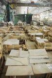 Marmeren fabriek Stock Foto's