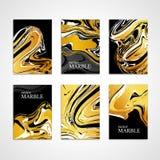 Marmeren gouden van de textuurkaart zwarte als achtergrond Royalty-vrije Stock Foto