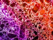 marmeren graniet rode purpere kleurrijke explosie van afmeting binnen royalty-vrije stock foto