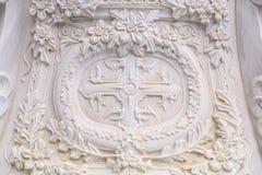 Marmeren gravure en hulpdetail stock fotografie