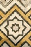 Marmeren gravures op moskee Taj Mahal, India stock foto's