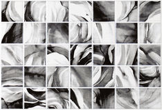 Marmeren grijze tegels als achtergrond, mozaïek Stock Afbeeldingen