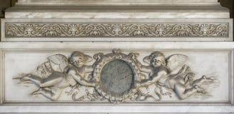 Marmeren Hoekdecoratie (abstract elementenpatroon) Stock Afbeeldingen