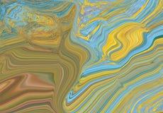Marmeren kleurrijke inkt De blauwe marmeren abstracte achtergrond van de patroontextuur Kan voor achtergrond of behang worden geb vector illustratie
