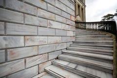 Marmeren kolommen en treden, Istanboel royalty-vrije stock foto