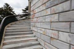 Marmeren kolommen en treden, Istanboel royalty-vrije stock foto's