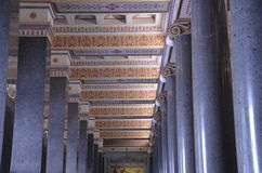 marmeren kolommen in Griekenland Stock Afbeeldingen