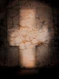 Marmeren kruis stock afbeelding