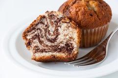 Marmeren muffinstuk royalty-vrije stock afbeelding