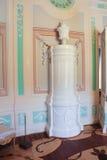 Marmeren oven in een ovaal boudoir Royalty-vrije Stock Afbeeldingen