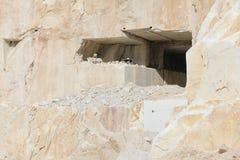 Marmeren quarrie Carrara Italië (quarrie ingang) Royalty-vrije Stock Afbeeldingen