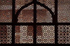 Marmeren rooster van het graf. Fatehpur Sikri, India Stock Foto