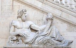 Marmeren standbeeld, Rome Stock Foto's