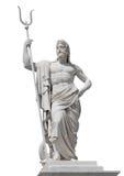 Marmeren standbeeld van de overzeese god Neptunus Stock Afbeelding