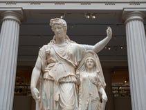 Marmeren standbeeld van Dionysos/Dionysus-god van wijn en intoxicatie stock foto's