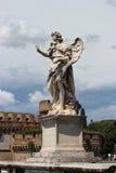 Marmeren standbeeld van engel van Sant'Angelo Bridge Stock Afbeelding