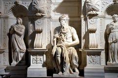 Marmeren standbeeld van Mozes door Michelangelo royalty-vrije stock afbeelding