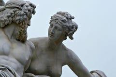 Marmeren standbeeld in Wenen, Oostenrijk Stock Foto's