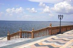 Marmeren Stappen aan Baai Stock Foto's